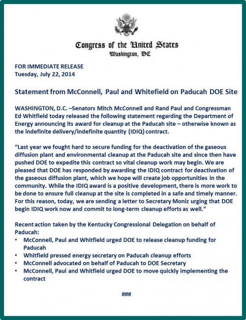 Delegation Response Release-Cleanup